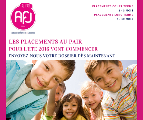 placements au pair 2016