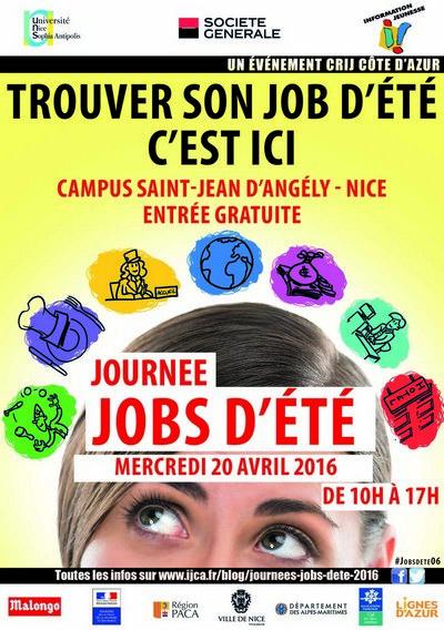 Jobs d'été Nice AFJ CRIJ