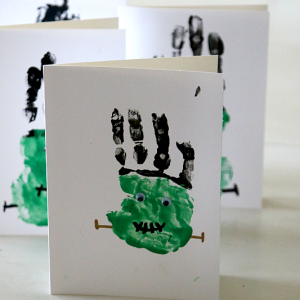 Halloween handprint activity